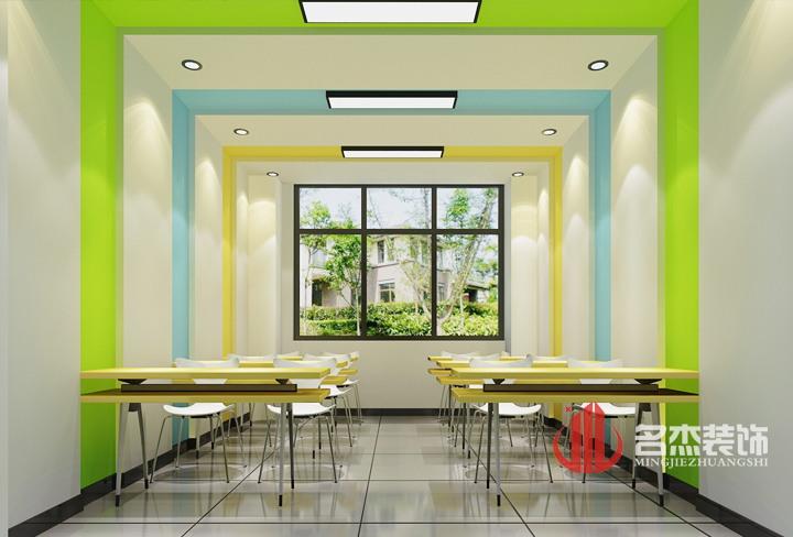 区教育培训机构装修设计高清图片