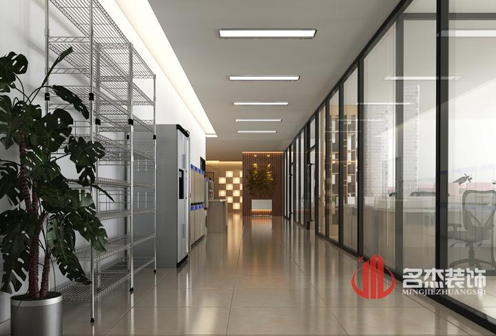 办公室装修设计效果图之过道