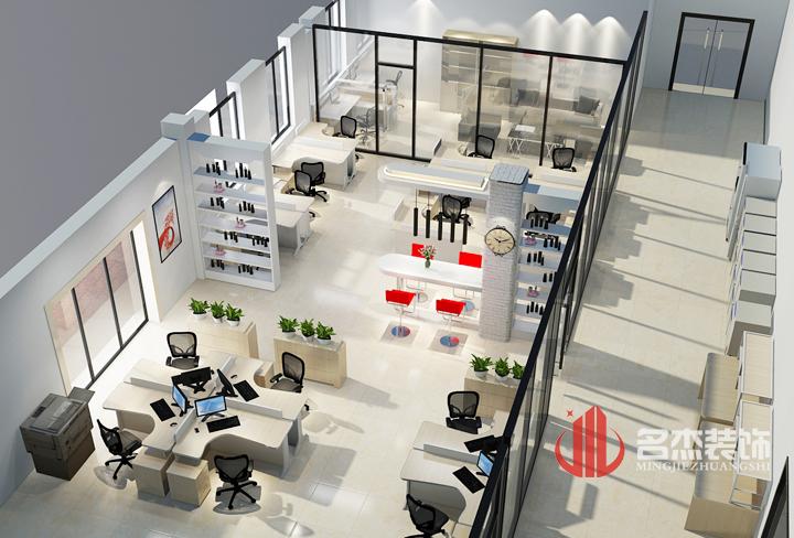 办公室装修效果图 公共办公区.jpg