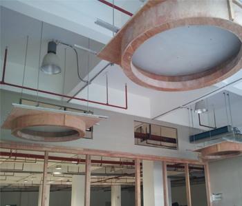 宝德集团办公室装修施工现场