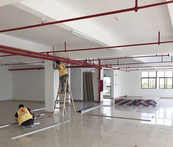 1500平方绿原办公室装修项目开工啦!