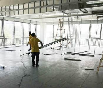 番禺800平方办公室装修项目开工啦!