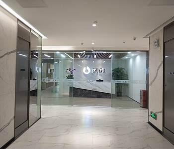 番禺800方办公室装修完工实景图