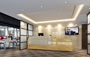 广州安通信息公司办公室装修设计