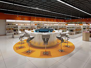 天河连元生活超市装修设计