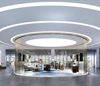2000平米的品途服装办公室装修设计
